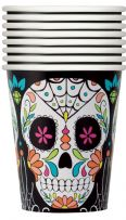 Skull Day Of The Dead Paper Cups (8)